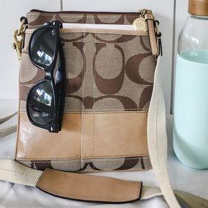 COACH signature cross-body bag